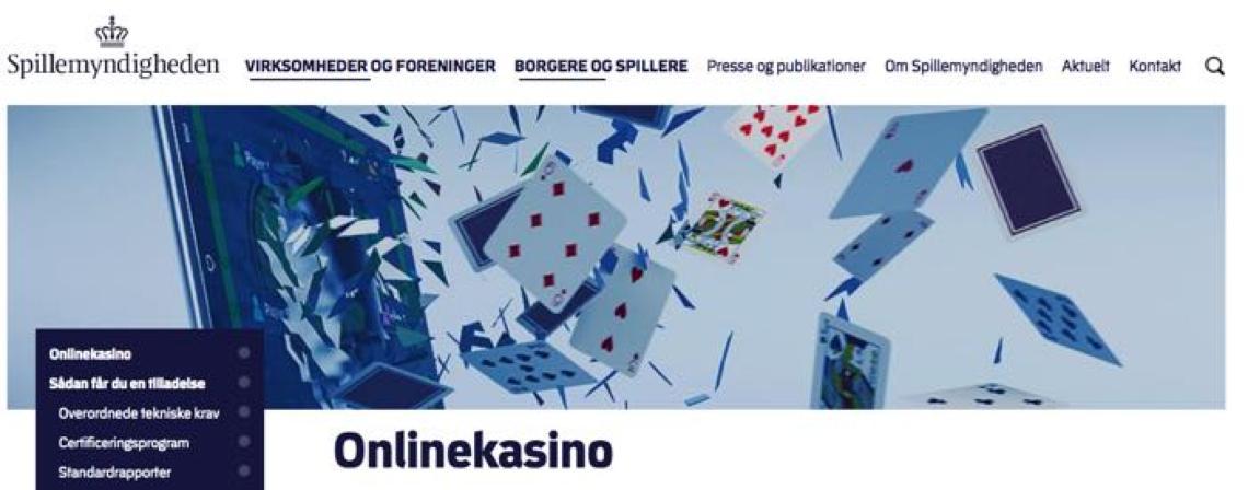 Tilladelse til onlinekasino i Danmark