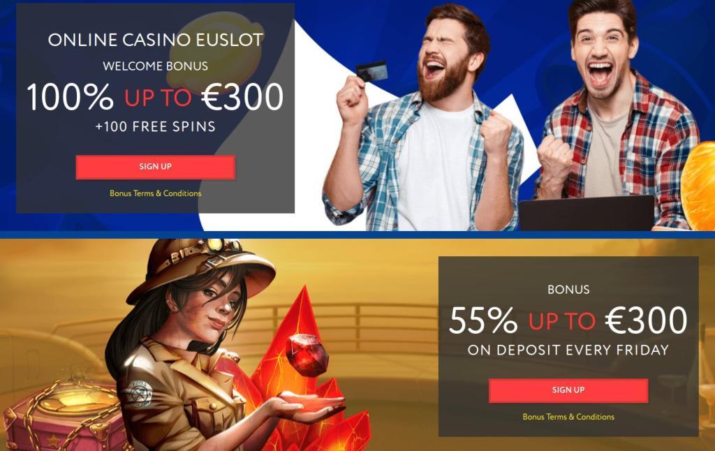 EUSlot Casinos bonusser