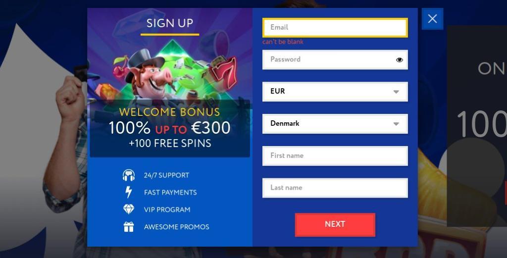 EUSlot Casino registration