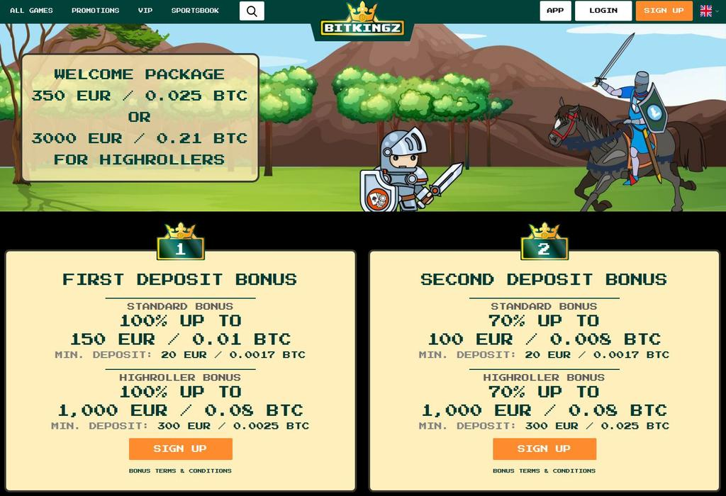 Velkomstbonus på BitKingz